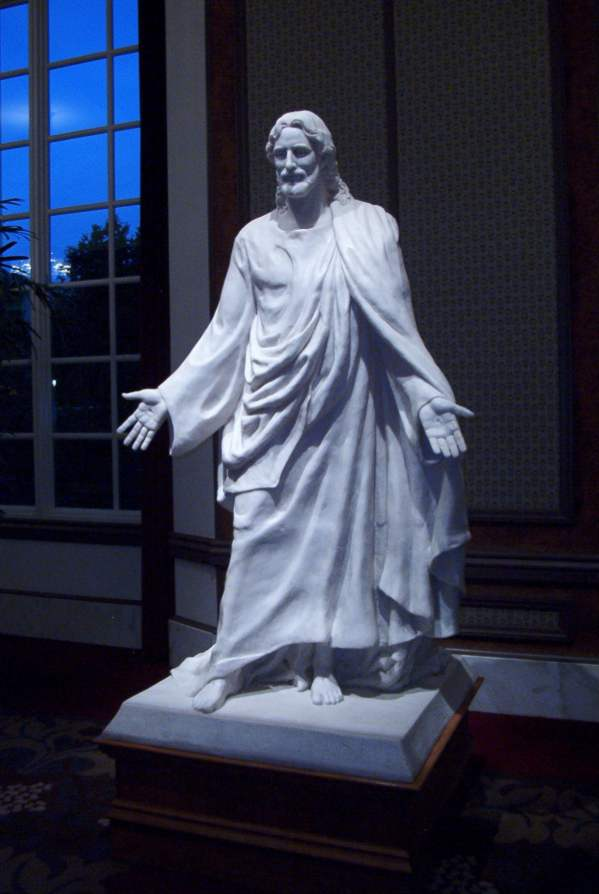 Statue of Christ, Joseph Smith Memorial Building, SLC, UT - click to enlarge